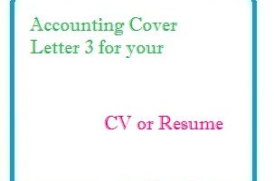 Accounting Cover Letter 3 for your CV or Resume