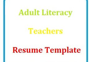 Adult Literacy Teachers resume Template