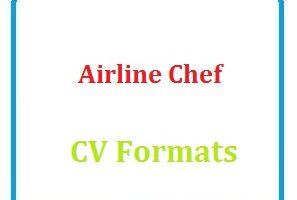 Airline Chef CV Formats