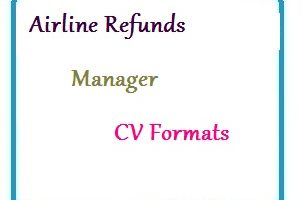 Airline Refunds Manager CV Formats