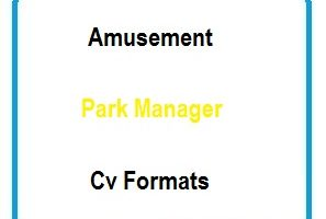 Amusement Park Manager CV Formats