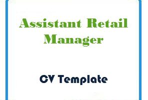 Assistant Retail Manager CV Template