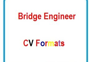 Bridge Engineer CV Formats