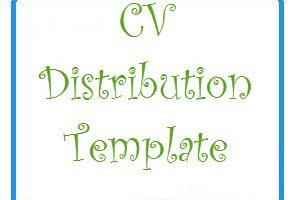 CV distribution Template