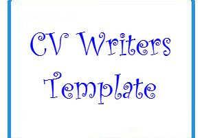 CV writers Template