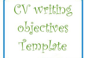 CV writing objectives Template