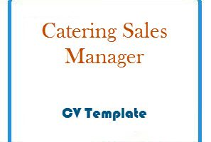 Catering Sales Manager CV Template