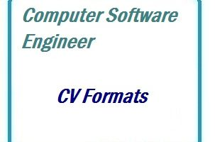 Computer Software Engineer CV Formats