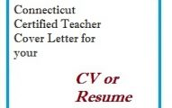 Connecticut Certified Teacher Cover Letter for your CV or Resume