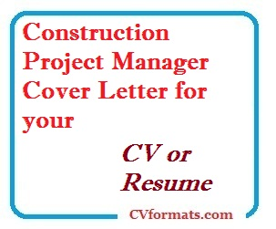Cover Letter For Construction Project Manager from cvformats.com