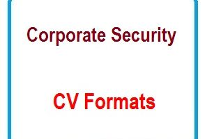 Corporate Security CV Formats