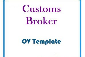 Customs Broker CV Template
