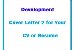 Development Cover Letter 2 for Your CV or Resume