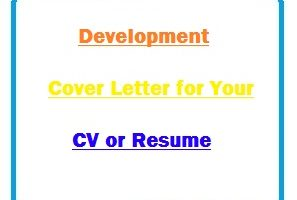 Development Cover Letter for Your CV or Resume