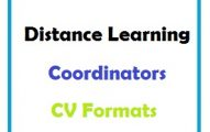 Distance Learning Coordinators CV Formats
