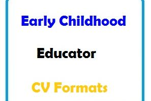 Early Childhood Educator CV Formats