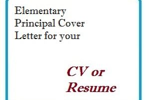 Elementary Principal Cover Letter for your CV or Resume
