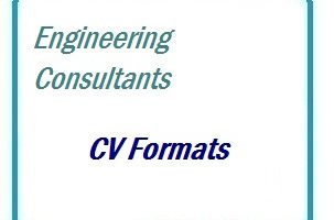 Engineering Consultants CV Formats