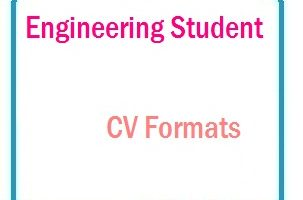 Engineering Student CV Formats