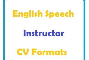 English Speech Instructor CV Formats