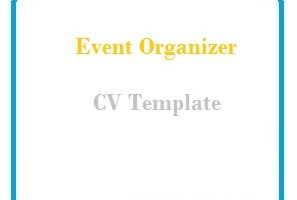 Event Organizer CV Template