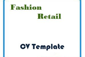 Fashion Retail CV Template