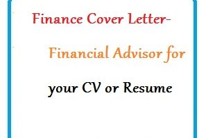 Finance Cover Letter - Financial Advisor for your CV or Resume