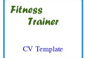 Fitness Trainer CV Template