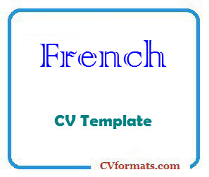 French CV Template