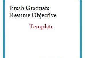 Fresher Graduate Resume Objective Template