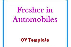 Fresher in Automobiles CV Template