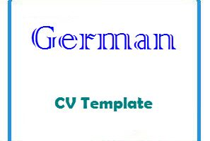 German CV Template