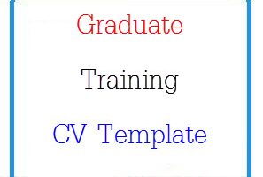 Graduate Training CV Template