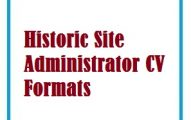 Historic Site Administrator CV Formats
