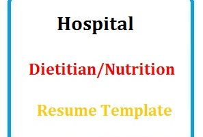 Hospital Dietitian/Nutritionist Resume Template