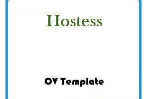 Hostess CV Template