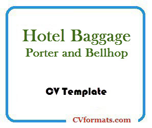 Hotel Baggage Porter and Bellhop CV Template