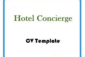 Hotel Concierge CV Template