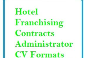 Hotel Franchising Contracts Administrator CV Formats