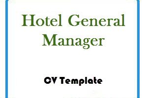 Hotel General Manager CV Template