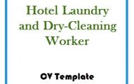 Hotel Laundry and Dry-Cleaning Worker CV Template