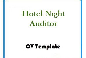 Hotel Night Auditor CV Template