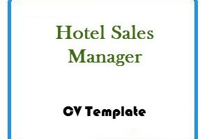 Hotel Sales Manager CV Template
