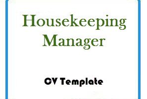 Housekeeping Manager CV Template
