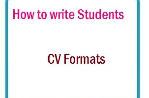 How to write Students CV Formats