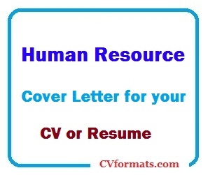 Human Resources Resume Cover Letter from cvformats.com