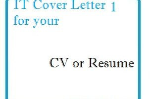 IT Cover Letter 1 for your CV or Resume