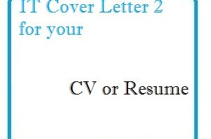 IT Cover Letter 2 for your CV or Resume