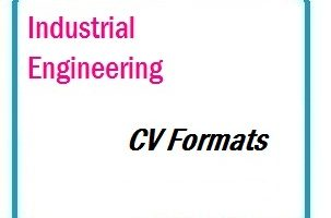 Industrial Engineering CV Formats 01