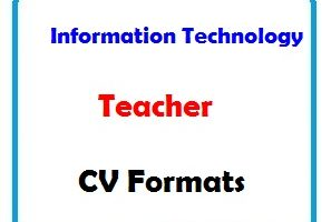 Information Technology Teacher CV Formats